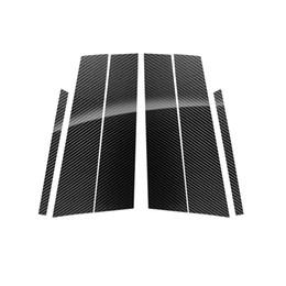 Discount mercedes window sticker - Fashion Carbon Fiber Car Window B C Pillars B-pillars Auto Stickers Trim Covers Car Styling For mercedes w204 C E class