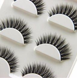 False Eyelashes Feathers Australia - 3 Pairs Natural Long 3d False Eyelashes Handmade Makeup Thick Fake Eye Lashes Extension Tools