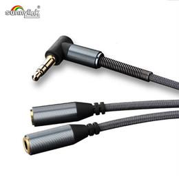 Stereo Splitter Australia - HIGH QUALITY 3.5MM JACK Y SHAPE SPLITTER AUDIO CABLE 3.5MM STEREO EARPHONE HEADPHONE EXTENSION CABLE 3.5MM JACK SPLITTER CALBE