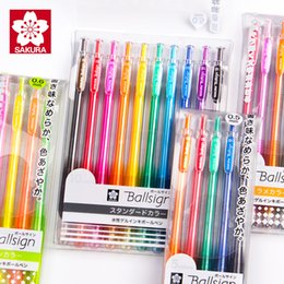$enCountryForm.capitalKeyWord Australia - Japan SAKURA Press Color Gel Pen 0.5mm Candy-colored Highlight Pen Kawaii School Supplies