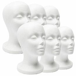 Foam wig heads online shopping - New Practical White Foam Female Mannequin Head Hair Wigs Glasses Cap Display Holder Stand Model Mannequin Hat Stand Styrofoam