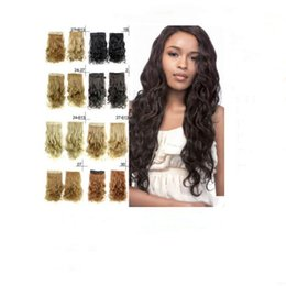 $enCountryForm.capitalKeyWord Australia - Brand new fashion hairpiece extensions loose wave clip in hair piece 22 inch 14 colors 100% synthetic hair free shipping