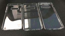 $enCountryForm.capitalKeyWord NZ - Transparent Clear Hard PC Case For Samsung Galaxy S10E S10 Plus Crystal Plastic Fashion Plain Blank Phone Skin Cover For Samsung S10 20pcs