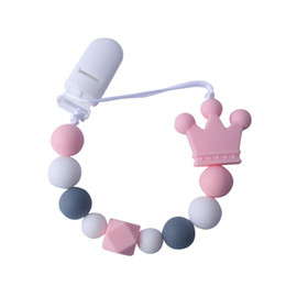 leash children 2019 - Baby Care Universal Holder Leash For Pacifiers Nipples Clip Chain Infant Child Crown Soother Beaded Chains Teethers chea