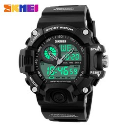 $enCountryForm.capitalKeyWord Australia - SKMEI Brand Outdoor Sport Watch Men 50m Waterproof Digital Quartz Dual Time Sports Watches Climbing Swim Clock Men