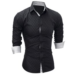$enCountryForm.capitalKeyWord UK - New Men Long Sleeve Casual Shirt Fashion Tuxedo Shirt Solid Color Slim Fit Black Mens Dress Shirts Camisa Social Masculina