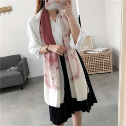 Scarf Air NZ - New printed silk scarf spring and summer female spring and autumn air conditioning sunshade shawl lace scarf SSXY013