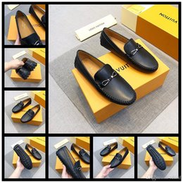 Cheap Spring Shoes For Men Australia - Cheap men shoes dress shoes leather material mens designer for men with Genuine Leather fashion casual men luxury shoes 38-45