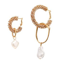 $enCountryForm.capitalKeyWord Australia - 2019 New Arrival ZA Brand Designer Earrings Vintage Crystal Hoop Statement Earing Natural Pearl Drop Earrings For Women Fine Jewelry