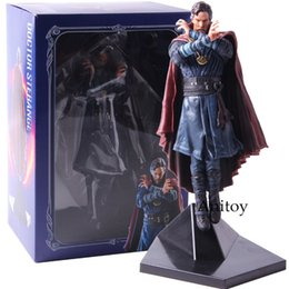 Figures Australia - Marvel Iron Studios Action Figure Doctor Strange 1 10 Statue Pvc Collectible Model Toy Y190604