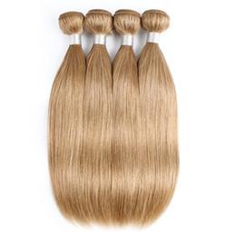 $enCountryForm.capitalKeyWord Australia - #27 Honey Blonde Human Hair Weave Bundles Brazilian Virgin Straight Hair 3 4 Bundles 16-24 Inch Remy Human Hair Extensions