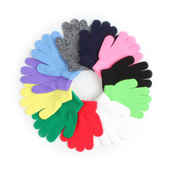$enCountryForm.capitalKeyWord UK - Winter Warm Baby Gloves Children Knitted Stretch Mittens Kids Solid Girls Gloves Full Finger Glove Knitted Random Boys Gloves S1025
