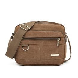 Canvas Zippers Australia - Men Canvas Bag Brand Multifunction Casual Travel Crossbody Bags Vintage Solid Zipper Men Messenger Handle Bags Sac A Main