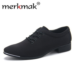 Wedding Canvas Prints Australia - merkmak Office Men's Dress Suit Shoes Italian Style Wedding Casual Shoes Canvas Man Formal Low Heels Footwears Drop Ship #56278