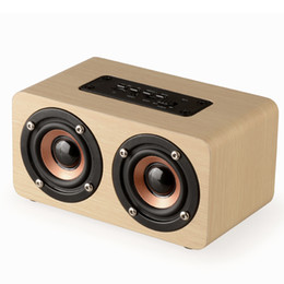 Speaker loudSpeaker online shopping - High end wood Stereo two channel loudspeaker mini wooden cabinet dual speaker music player