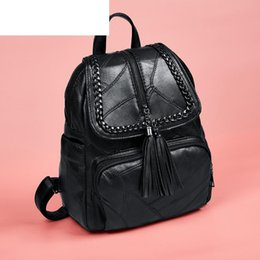 $enCountryForm.capitalKeyWord Australia - good quality High Quality Pu Leather Woman Backpack With Tassel Simple Solid Color Female Rucksack Casual Style Female Travel Bag