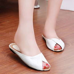 peep toe sandals low heels 2019 - Women's Summer Sandals Shoes Peep-toe Low Shoes Roman Sandals Ladies Sexy Solid Color Slippers Indoor Out Door Casu