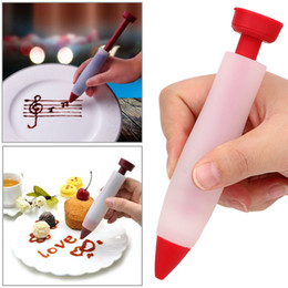 cake decorating icing pens NZ - Silicone Food Writing Pen Chocolate Decorating tools Cake Mold Cream cup cookie Icing Piping Pastry Nozzles kitchen accessories