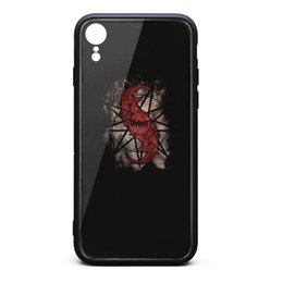 China IPhone XR Case Slipknot Vintage LOGO is old 9H Tempered Glass Cover TPU Bumper Shockproof Phone Case suppliers
