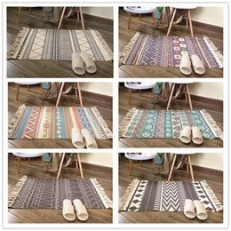Cotton Floor Rugs Australia - Creat Woven Indian Cotton printing Tribal Area Rug Floor Mat Boho Decorative Throw Gifts