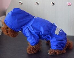 Cool Sweatshirt Jackets Australia - Windbreak Pet Dog Clothes Pure Color Waterproof Doggy Raincoat Conjoined Rainwear Cool Spring And Summer Hooded Cap 11 64mxb1