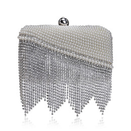 $enCountryForm.capitalKeyWord NZ - Elegant Ladies Evening Clutch Bag with Chain Diamond Tassel Pearl Shoulder Bag Women's Handbags Purse Wallets for Wedding Party