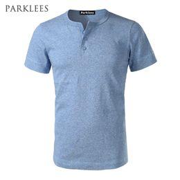 $enCountryForm.capitalKeyWord Australia - Solid Color T Shirt Men New Summer Slim Fit Short Sleeve Mens T Shirts Classic Casual Amekaji Heavy Henley Shirt Tee Homme
