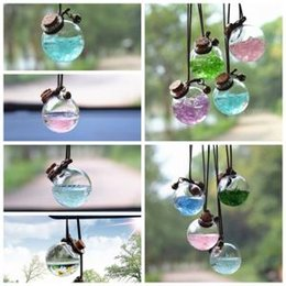 $enCountryForm.capitalKeyWord Australia - 5styles flower perfume Empty bottle glass New car hanging pendant car home decor Perfume bottle Storage DIY mini packing Bottles FFA1475
