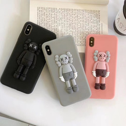 3d cartoon x NZ - New Fashion KAWS Toys Sesame Street 3D Soft Silicone Phone Cover For Iphone 11 pro 6 6s 7 8 Plus X XS XR MAX Cartoon Cute Cases Back Coque