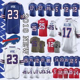 c8d4a58ee Buffalo Jerseys 49 Tremaine Edmunds Bills 17 Josh Allen 12 Jim Kelly 25 LeSean  McCoy 34 Thurman Thomas 95 Kyle Williams 23 Micah Hyde Jersey