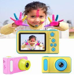 $enCountryForm.capitalKeyWord Australia - NEW Kids Camera Mini Digital Camera Cute Cartoon Cam 1080P Toddler Toys Children Birthday Gift 2 Inch Screen Cam Birthday Gift Inch Screen