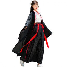 Wholesale traditional chinese woman costume for sale - Group buy Woman Weight kg dance costumes for Oversea Chinese folk dance Classical hanfu costume Female traditional chinese ancient costume Black