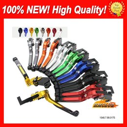 10colors CNC alavancas para Suzuki GSX-R600 GSXR750 01 02 03 GSXR 600 750 GSX R600 2001 2002 2003 CL707 Folding Extensível freio Embraiagem em Promoção