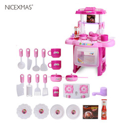 toy kitchen sets for kids NZ - Kids Play House Girl Pretend Play Tableware Sets Toys Kitchen Cooking Simulation Miniature Kitchen Toys For Kids Birthday Gifts