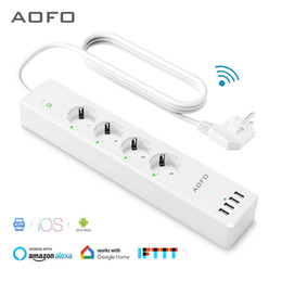 Eu Power Strip NZ - dropshop Wifi Smart Power Strip 4 EU Outlets Plug with 4 USBCharging Port Timing App Voice Control Work with Alexa Google Home Assistant