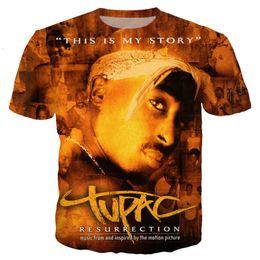 a260e5f5d7d7 New Pop Hot Fashion Hip Hop King 2pac Tupac T Shirt Men women 3D Printed T- shirts Short Sleeve Harajuku Tshirt Streetwear Unisex Tops K1038