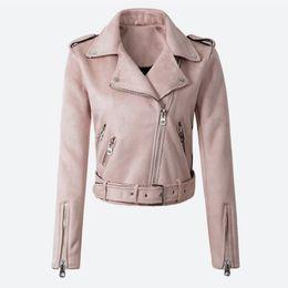 $enCountryForm.capitalKeyWord Australia - Women's Faux PU Leather Spring Suede Short Jacket Multy Zipper Motorcycle Coat Womens 2019 Autumn Dropshipping Biker Jackets