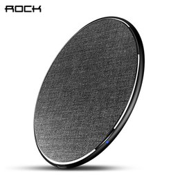 Qi For Iphone Australia - Rock 10w Qi Wireless Charger For Iphone Xs X Xr Xs Max 8 Fast Wireless Phone Charger For Samsung Galaxy S9 8 Note 9 Charging Pad J190427