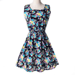 $enCountryForm.capitalKeyWord UK - Women Fashion Designer Dresses Floral Print Sleeveless Elegance Style New Casual Summer Vest Skirt for Ladies Nice Short Dress 10 Colors