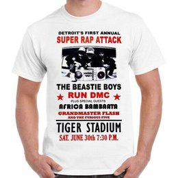 AttAck blAck online shopping - Detroit Super Rap Attack Beastie Boys Poster Retro T Shirt