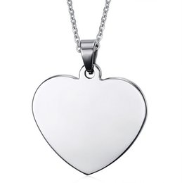 Wholesale Pendant Engraving Australia - Customized Engraved Stainless Steel Heart Shaped Pendant Personalized Necklace With Any Message Free Silver Chain J190530