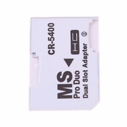 $enCountryForm.capitalKeyWord Australia - Dual Micro SD TF to Memory Stick MS Pro Duo Adapter CR-5400 CR5400 For PSP Card Dual 2 Slot Adapter High Quality 50pcs