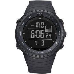 Men Digital Wrist Watches Australia - Fashion Men watch Black Japan original digital movement Rubber Band Army Wrist Watches reloj hombre deportivo A2