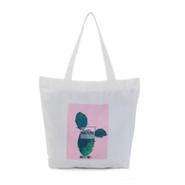 dd87fabc1 Buena calidad Estilo coreano Cactus bolso de lona de las mujeres de gran  capacidad de impresión de la bolsa de compras de verano ocasional playa  salvaje ...