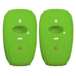 remote control car accessories UK - 2pcs 4 Buttons Soft Silicon Accessories Portable Remote Control Case Anti Scratch Shell Protection Key Fob Cover Car For