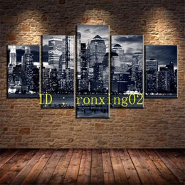 $enCountryForm.capitalKeyWord Australia - New York City Black and White,5 Pieces Home Decor HD Printed Modern Art Painting on Canvas (Unframed Framed)