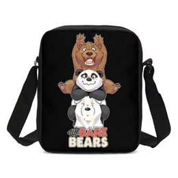 cute sling bags 2019 - Small Crossbody Bags For Boys Girls Cute Cartoon Animal Bare Bears Letter 3D Printing Messenger Bag Casual Shouler Bag S