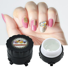 Wholesale Professional Super Sticky g g UV Gel Nail Rhinestone Glue Crystal Adhesives LED Transparent Polish Nails Crafts Decor Tools
