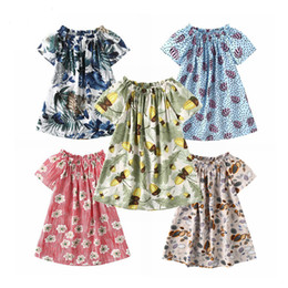 Kids beach flower girl dresses online shopping - Infant Broken Flower Dresses A Line Beach Knee Length Pleated Off Shoulder Dress Kids Designer Dress Girls Polyester Multicolor
