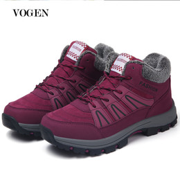 Snow boot inSoleS online shopping - Womens Winter New Fashion Shoes Ankle Boots for Women Red Bottoms Snow Boots Big Size Plush Insole Shoes Women